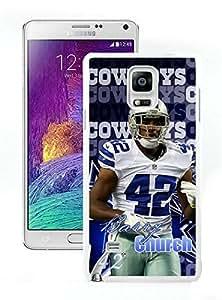 Dallas Cowboys Barry Church White Cool Photo Custom Samsung Galaxy Note 4 Phone Case