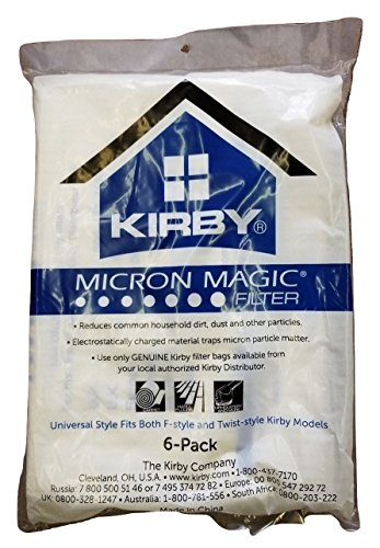 Kirby Bag Vacuums - Kirby Part#204808 / 204811 - Genuine Kirby Style F HEPA Filtration Vacuum Bags for Sentria Models - 6/Package, Sentria®, for units built on 2009 and later