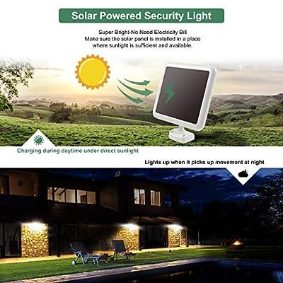 GLORIOUS-LITE Solar Lights Outdoor, 1500LM Super Bright Solar LED Security Light, 3 Adjustable Head Motion Sensor Light, 6000K, IP65 Waterproof Flood Light for Backyard, Pathway & Patio