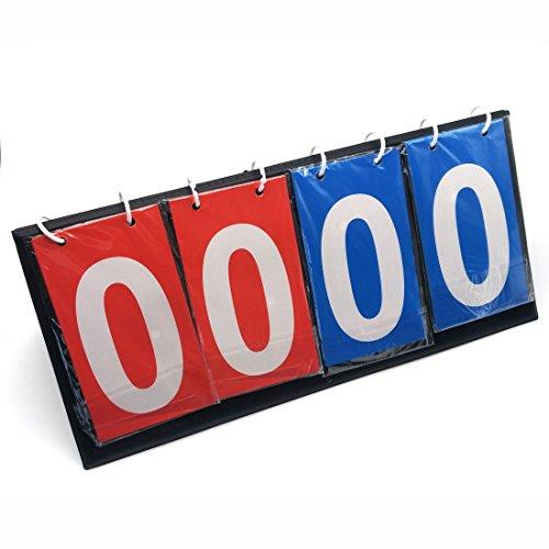 GARASANI Portable Table Top Scoreboard Volleyball Basketball Table Tennis Set Score for Sports Games (0~99 Score)