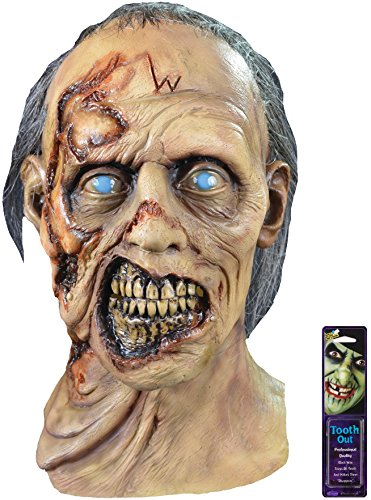 Zombie Makeup Walking Dead (Bundle: 2 Items - Walking Dead W Walker Zombie Mask and Free Pack of Makeup)