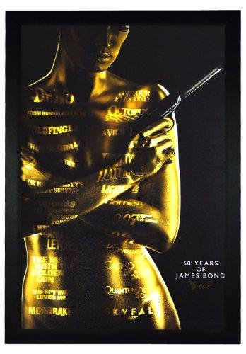 "007 James Bond, 50 years of James Bond 24""x36"" Framed Movie"