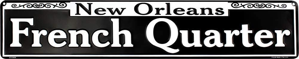 "Ramsons Imports 24"" x 5"" French Quarter, New Orleans - Metal Sign, Made in USA"