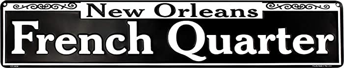 """Ramsons Imports 24"""" x 5"""" French Quarter, New Orleans - Metal Sign, Made in USA"""