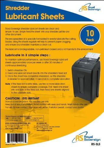 Royal Sovereign RS-SLS Shredder Lubricant Sheets 10-Pack