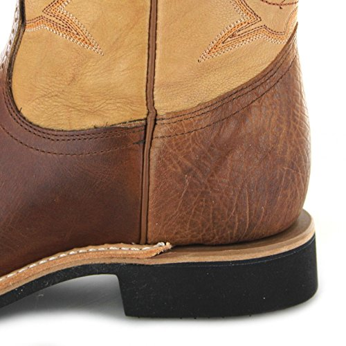 Bottes américaines - Bottes Cowboy BO-5263-EEE (pied fort) - Homme - Cuir - marron