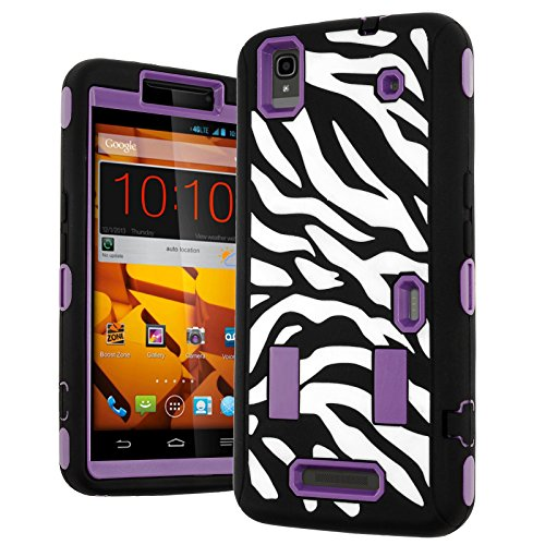N9520 Case,ZTE Max Case,Heavy Duty Hybrid Shockproof Hard Soft Full-body Case Back Cover for Zte Max N9520 Boost (Boost Mobile Phones Cases Max)
