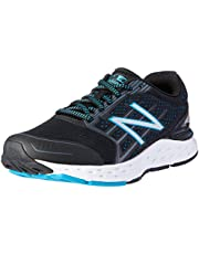 New Balance Women's 680v5 Running Shoes, Black/Blue