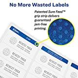 Avery Mailing Address Labels, Laser Printers, 1 x 2-5/8, Permanent Adhesive, Easy Peel (5260)