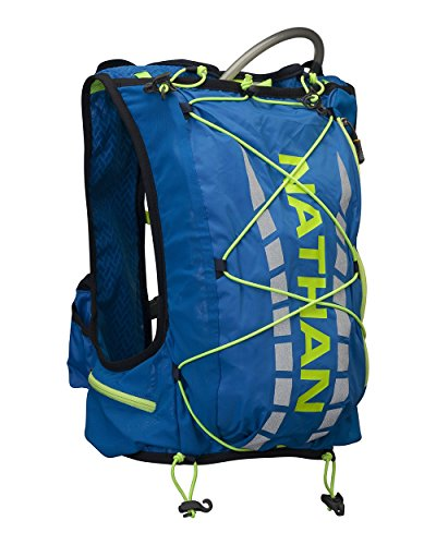 Nathan Vapor Air 7L Hydration Race Vest Electric Blue Lemonade, XS ()