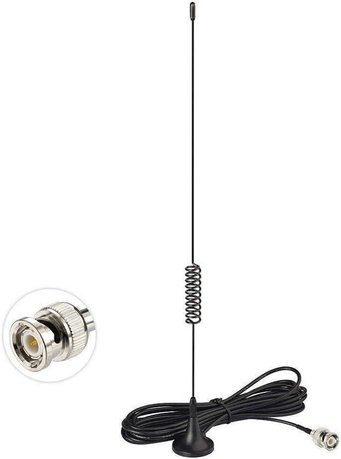 Car CB Mobile Radio Scanner BNC Magnetic Base Antenna for Uniden BC365CRS BC355N