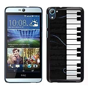 LECELL--Funda protectora / Cubierta / Piel For HTC Desire D826 -- Patrón Piano --