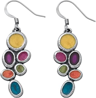 product image for DANFORTH - Lindy/Fiesta Earrings - 1 1/4 Inch - Pewter - Surgical Steel Wires - Handcrafted - USA