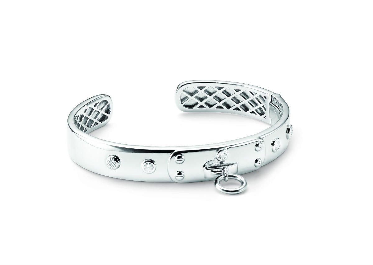 Bangle Bracelet with Moissanite Gemstones 0.26cttw DEW By Charles & Colvard