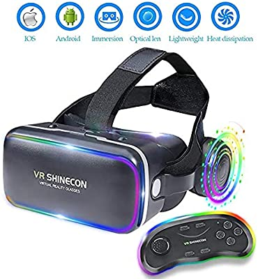 Shfmx VR Headset con Control Remoto, Gafas 3D de Realidad Virtual ...