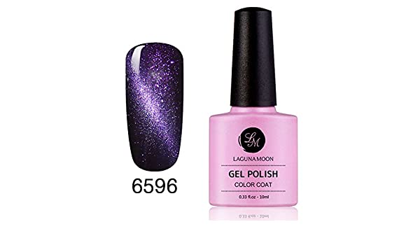 Esmaltes de Uñas en Gel, Magic magnético efecto ojo de gato 3d Soak Off Gel de uñas con purpurina color 6596: Amazon.es: Belleza