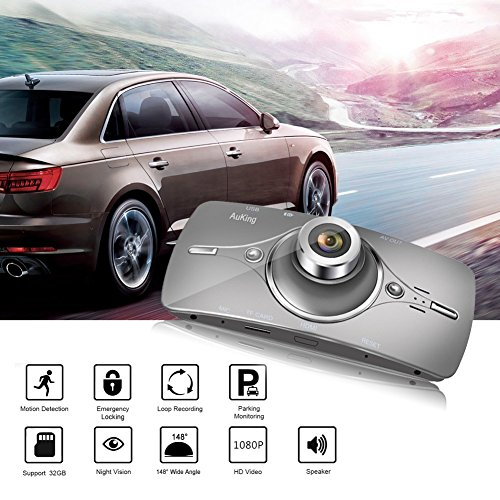Dash Cam,AuKing 2.7'' LCD Full HD 1080P in Car Cam DVR Dashboard, Video Recorder, with G-Sensor, Automatic Loop Recording, WDR, Parking Monitoring,Motion Detection by AuKing (Image #6)