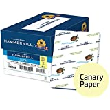 Hammermill Colored Paper, Canary Printer Paper, 20lb, 8.5x11 Paper, Letter Size, 5,000 Sheets / 10 Ream Case, Pastel Paper, Colorful Paper (103341C)