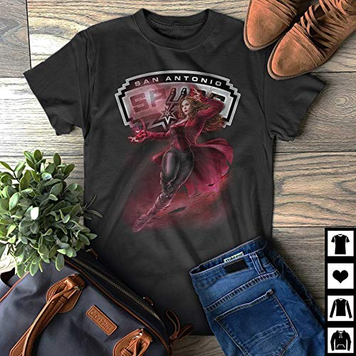 Superhero Scarlet Witch Endgame San-Antonio-Spurs Fan Gift T-Shirt