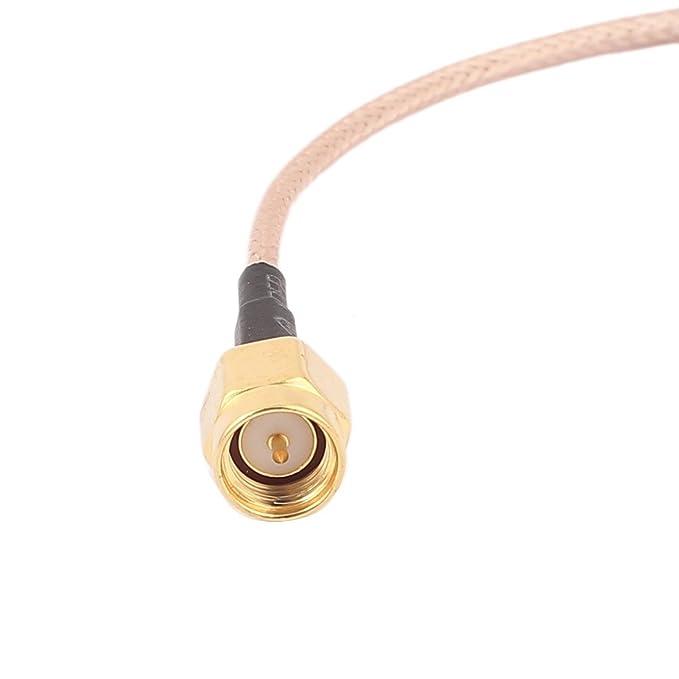Amazon.com: eDealMax CRC9 Macho a SMA-J Male RG316 Cable coaxial Flexible de conexión 20 cm: Electronics
