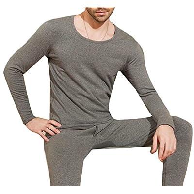 Top Pandapang Mens Elastic Fleece Crewneck Long Sleeve Thermal Underwear Set free shipping