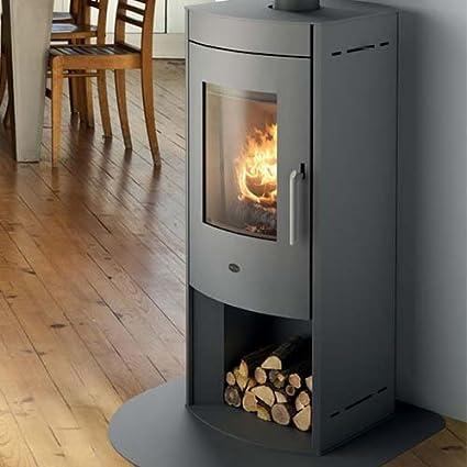 Estufa a leña Margarita Eva calor 12,5 kW Color Gray Ruvido