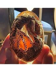 Lava Dragon Egg, Dream Crystal Transparent Dragon Egg with Lava Base, Exquisite and Unique Lava Dragon Egg Souvenir, Lava Dragon Egg, Night Light, Baby Dragon, Transparent Dragon's Egg