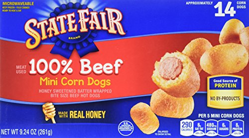 State Fair, Mini Corn Dogs, 100% Beef, 14 Count - Beef Pig
