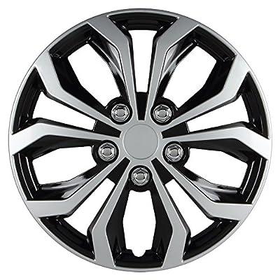 Pilot Automotive WH553-14S-BS Universal Fit Spyder Wheel Cover [Set of 4]: Automotive