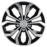 "Pilot Automotive WH553-14S-BS Spyder 14"" Performance Wheel Cover, Two Tone Black/Silver Finish, (Pack of 4)"