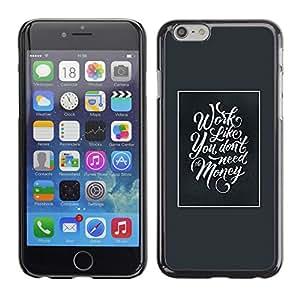 A-type Arte & diseño plástico duro Fundas Cover Cubre Hard Case Cover para Apple (5.5 inches!!!) iPhone 6+ Plus / 6S+ Plus (Work Money Inspiring Blue Poster Frame)