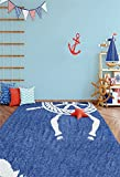 LFEEY 3x5ft Babyroom Decor Nautical Theme Backdrop Baby Shower Kids Birthday Wheel Anchor Sailboat Background Light Blue Wall Banner Photo Backdrop Photo Studio Props