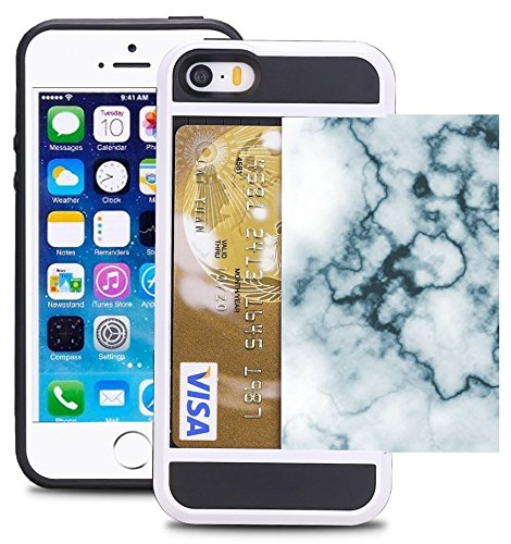 separation shoes db5ec 00e3a Credit Card ID Holder Wallet Case For iPhone 5/5S/SE Dual Slim  Shock-Resistant Hybrid Armor Case - Holds 2 Cards & Cash By Corpcase.  Designer ID / ...