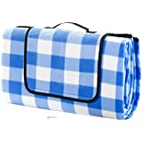 ALLWA XXX-Large 69x79 Inch Outdoor Blanket - Water Proof Backing Picnic Rug - Easy To Fold And Portable Beach Mat- Family Perfect For Beach, Travel, Picnic Camping