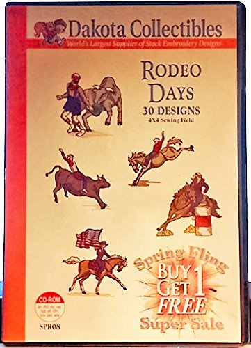 Rodeo Days (30 Designs) 4 x 4 Sewing Field (CD-ROM) (Collection Rodeo The)
