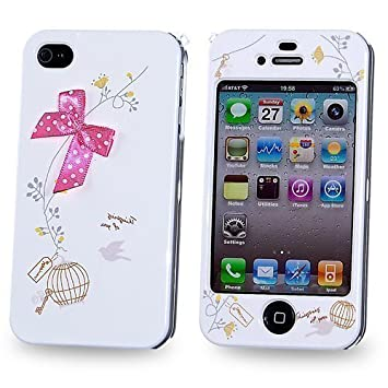 timeless design e6e66 ab373 Full Body Cover Hard Case Fits iphone 4 & 4S with: Amazon.co.uk ...