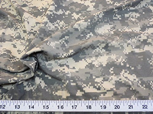 Swatch Sample Digital Desert Army Camouflage 4 Way Stretch Fabric Polyester Lycra LY919