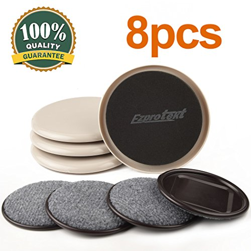 Carpet Base Cup (8Pack Furniture Sliders 5Inch Plastic Sliders And Heavy Duty Furniture Pads Carpet Base Furniture Moving Pads for Carpet, Hardwood and Other All Surfaces Reusable Furniture Movers)