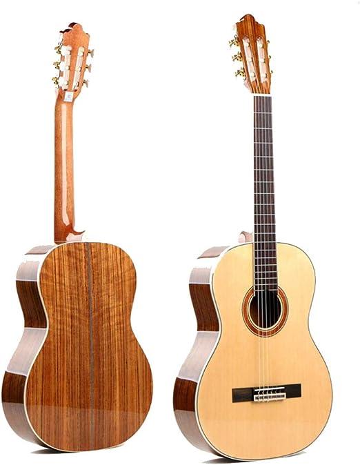 North King - Guitarra acústica clásica Hecha a Mano con Abeto clásico de Madera de Nogal para Adultos: Amazon.es: Jardín