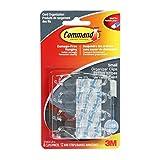 Command 17302CLR-C Cord Organizers, Small, Clear, 8 Clips 12 Mini Strips