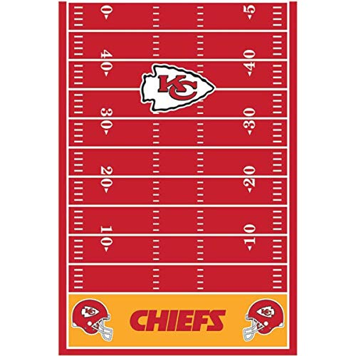 Kansas City Chiefs Collection Printed Plastic Table Cover for Party]()