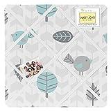 Sweet Jojo Designs Bird Print Fabric Memory/Memo Photo Bulletin Board for Earth and Sky Collection