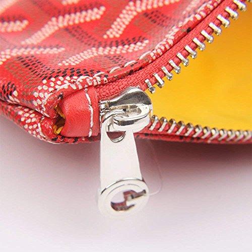 Stylesty Designer Clutch Purses for Women, Pu Envelope Fashion Clutch Bag, Women Handbag (Medium, Red) by Stylesty (Image #2)