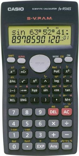 Casio Fx-95ms Scientific Calculator with 2-line Natural Textbook Display 244 Function Black Color