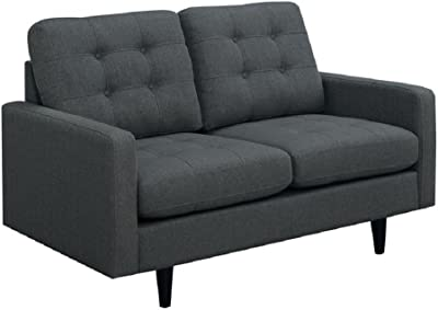 Coaster 505375-CO Kesson Mid Century Modern Loveseat, In Charcoal