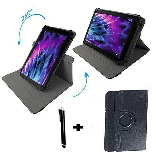 Huawei MediaPad T2 10.0 Pro LTE (10.1) Zoll Drehbare Tablet Schutztasche mit Standfunktion + Touch Pen - Schwarz 10.1 Zoll 360