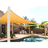 BIG 20'x20'x20' Oversized Triangle Garden Patio Sun Sail Shade 20 ft , Color Desert Sand