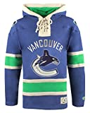 NHL Vancouver Canucks Men's Lacer Heavyweight Hoodie, Large, Dark Royal