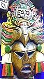 """Máscara arqueológica, grande, madera decorativa,""""guerrero maya"""" pieza única escultura única, trabajada a mano en madera."""