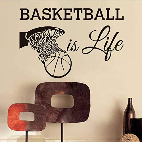Baloncesto es vida Calcomanías de pared Ventiladores ...